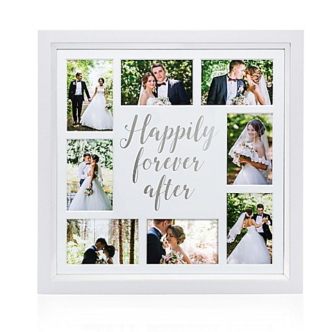 Pearhead® Happily Ever After 8-Photo Collage Frame in White - Bed ...