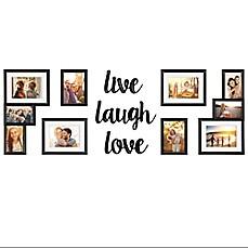 Wallverbs 9 Piece Live Love Laugh Photo