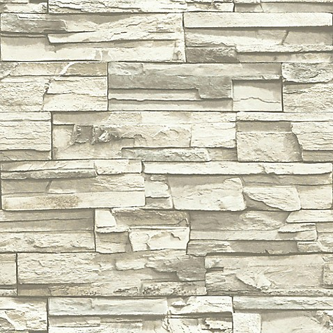 Roommates Stacked Stone Peel Stick Wall D Cor In Grey