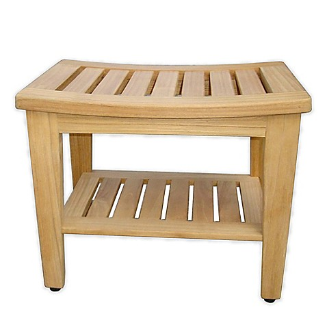 Havenu0026trade; Teak Shower Bench