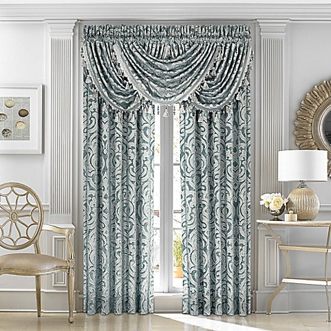 Buy J Queen New York Sicily 84 Inch Window Curtain Panel Pair In Teal From Bed Bath Beyond
