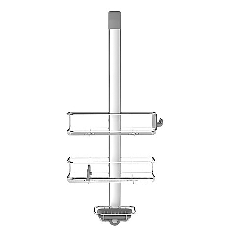 simplehuman® Over-the-Door Shower Caddy in Stainless Steel - Bed ...