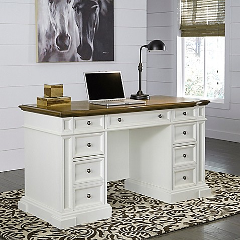 Home styles americana pedestal desk bed bath beyond for Americana style house