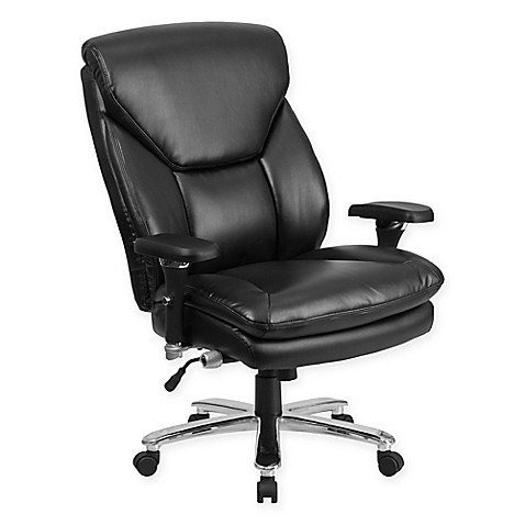 Flash Furniture 24 7 Intensive Use Faux Leather Swivel Chair In Black