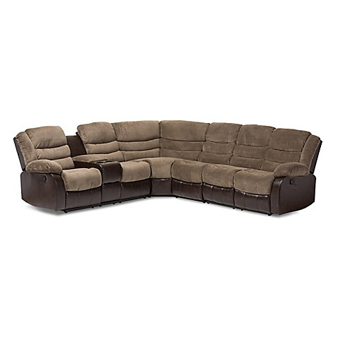 Baxton studio robinson 7 piece sectional sofa in brown for 7 piece sectional sofas