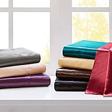 image of madison park essentials premier comfort satin sheet set