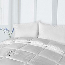 image of Clean Living Cotton Stain and Water Resistant Down Alternative Comforter in White