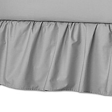 image of American Baby Company® Ruffle Crib Skirt in Grey