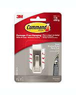 Ganchos para colgar sin dañar paredes 3M Command™, pequeños en níquel cepillado