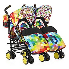 image of Cosatto Supa Dupa Double Stroller in Pixelate Multi
