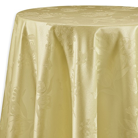 Buy Spring Splendor 90 Inch Round Tablecloth In Butter