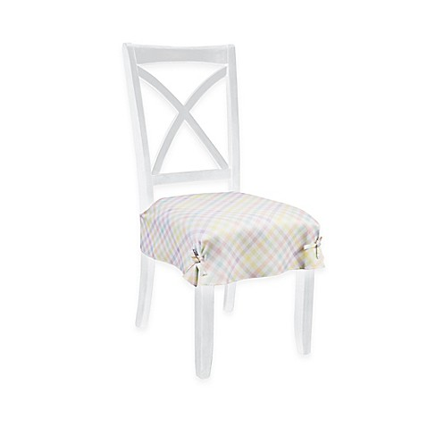 Image Of Spring Splendor Gingham Seat Covers Set 2