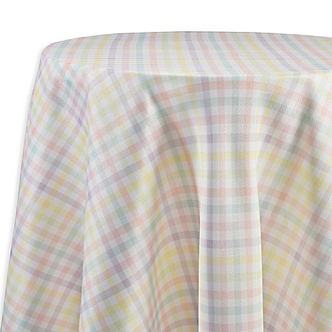 Buy Spring Splendor Gingham 90 Inch Round Tablecloth In