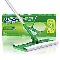 image of swiffer sweeper dry wet cleaner starter kit - Swiffer Mop