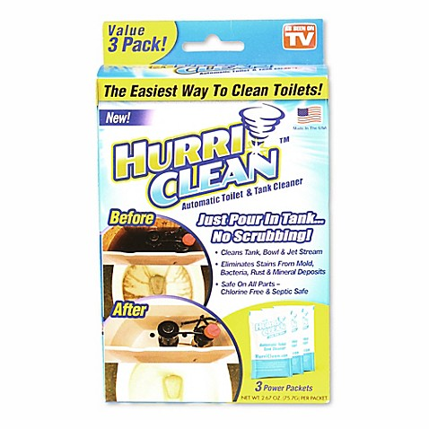 Hurriclean 3 Pack Automatic Toilet Cleaner Bed Bath