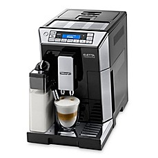 image of De'longhi Eletta Top Fully Automatic Espresso and Cappuccino Machine in Stainless Steel/Black