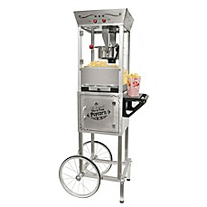 image of Nostalgia™ Electrics Vintage Collection™ 53-Inch 6 oz. Kettle Popcorn Cart in Stainless Steel