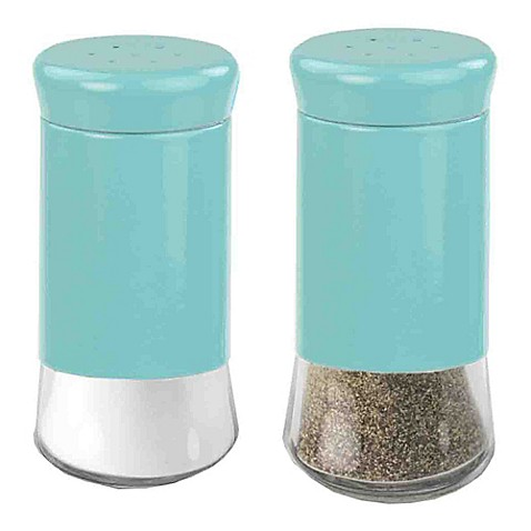 Home Basics Essence Salt And Pepper Shakers In Turquoise
