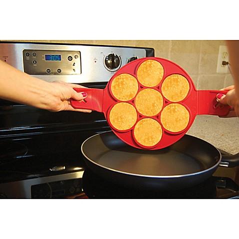 Flippin\' Fantastic™ Nonstick Pancake Ring in Red