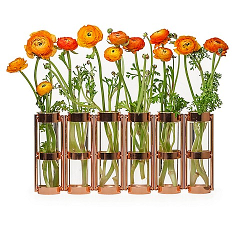 Danya B. 8-Inch 6 Tube Hinged Vase - Bed Bath & Beyond