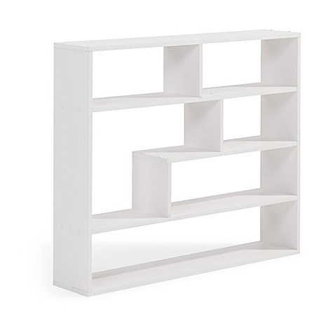 buy danya b large rectangular wall mounted shelf unit in. Black Bedroom Furniture Sets. Home Design Ideas