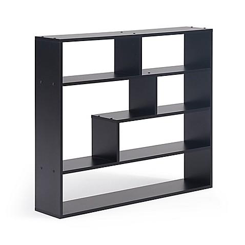 danya b large rectangular wall mounted shelf unit bed. Black Bedroom Furniture Sets. Home Design Ideas