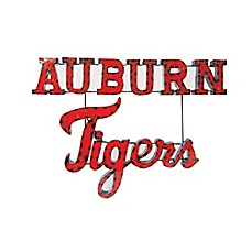 image of Auburn University Tigers Recycled Metal Wall Décor