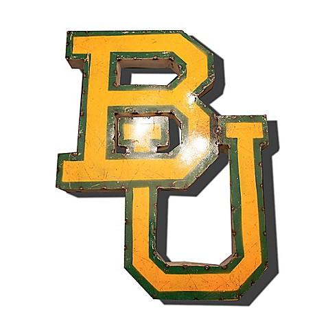 Baylor University Bears BU Recycled Metal Wall Décor - Bed Bath & Beyond