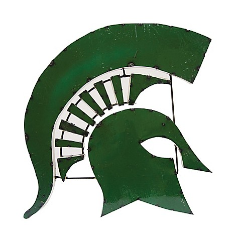 Michigan State University Spartans Recycled Metal Wall D Cor Bed Bath Beyond