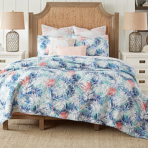 Coastal Living Coastal Palm Reversible Mini Quilt Set Bed Bath