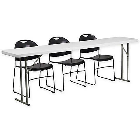 Flash Furniture 4 Piece Folding Table And Chairs Set Bed