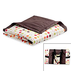 image of Tuffo Water-Resistant Outdoor Blanket in Brown/Multi