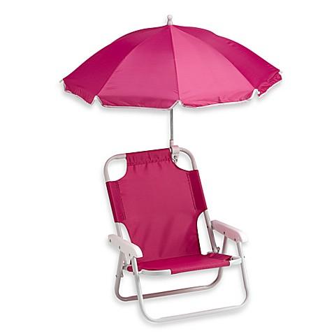 redmon baby beach chair with umbrella in pink - bed bath & beyond