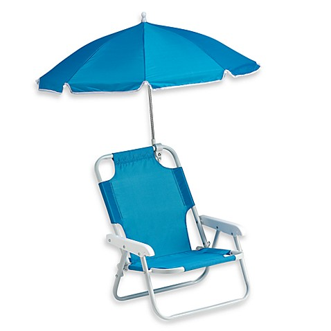 Redmon Baby Beach Chair with Umbrella in Blue
