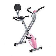 image of Sunny Health & Fitness SF-RB1117 Folding Recumbent Bike in Pink