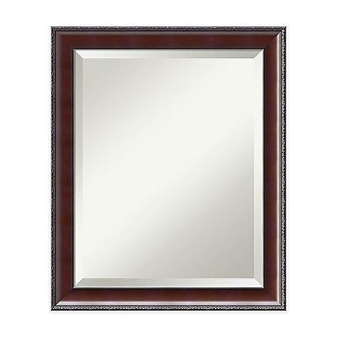 buy 19 inch x 23 inch country bathroom mirror in walnut
