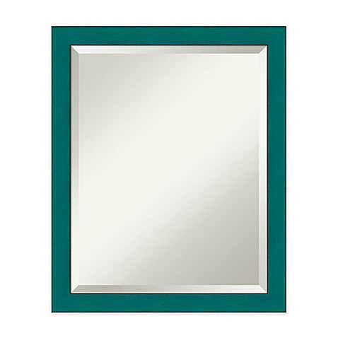 Rustic french mirror in teal bed bath beyond for Teal framed mirror