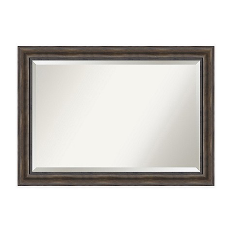 buy 42 inch x 30 inch rustic pine rectangular mirror from bed bath beyond. Black Bedroom Furniture Sets. Home Design Ideas
