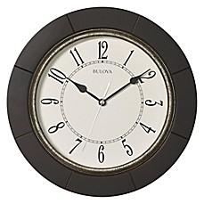 Ordinaire Bulova Deco Wall Clock In Espresso