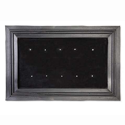 Buy Rubber Door Mat Insert Frame In Black From Bed Bath