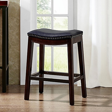 Buy Madison Park Nomad Saddle Bar Stool In Navy From Bed