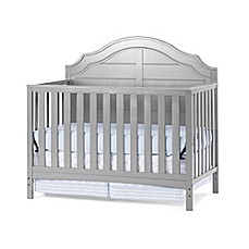 image of child craft penelope 4in1 convertible crib in cool grey