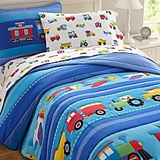 image of Olive Kids Trains, Planes & Trucks Bedding in Blue