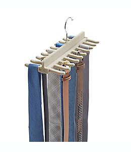 Real Simple Organizador de cinturones y corbatas en gris piedra