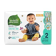 image of Seventh Generation™ 36-Count Free and Clear Stage 2 Chlorine-Free Disposable Diapers