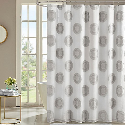 Buy Madison Park Yakima 72 Inch Shower Curtain In Grey From Bed Bath Beyond