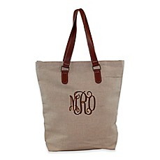 image of CB Station Jute and Leather Tote