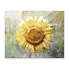 Concrete Sunflower 24 Inch X 20 Inch Wooden Wall Art
