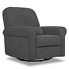 image of DaVinci Ruby Recliner and Glider in Dark Grey