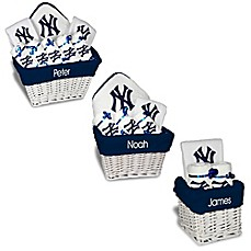 Personalized gift sets buybuy baby image of designs by chad and jake mlb personalized new york yankees baby gift basket negle Images